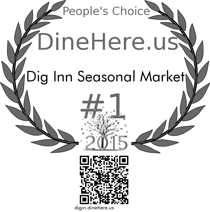 Dig Inn Seasonal Market DineHere.us 2015 Award Winner